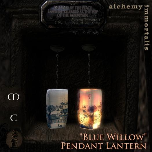 ")AI( - ""Blue Willow"" Pendant Lantern [COPY/MODIFY/no transfer]"