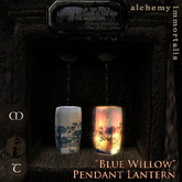 ")AI( - ""Blue Willow"" Pendant Lantern [TRANSFER/MODIFY/no copy]"