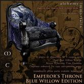 )AI( The Haute Seat Collection: Emperor's Throne - Blue Willow Edition [COPY/MODIFY/no transfer]
