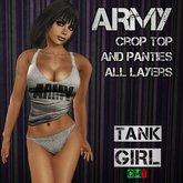 *TG* - Army Crop Top and Panties