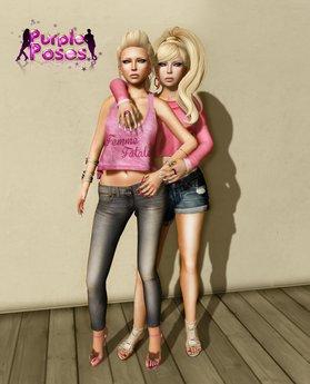 PURPLE POSE - FriendBall43 - Friends Pose