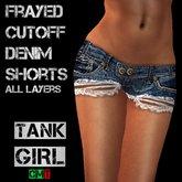*TG* - Frayed Cutoff Denim Shorts