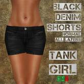 *TG* - Denim Shorts Black Normal