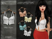Kyoot - Lacey Little Top (White)