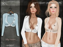 Kyoot - Soft Heart Cropped Top (Sky)