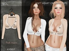 Kyoot - Soft Heart Cropped Top (Pink)