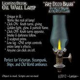 ~LanTN~Oil Wall Lamp - Art Deco Brass v.1.5