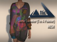 -ATTIC- Loose Sweater (I'm A Painter) MESH