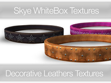 *Skye WhiteBox Textures - 132 Decorative Leather textures Full Perms