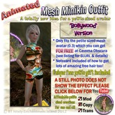 !!Bollywood  Animated Mesh outfit - Petite Wonderland!! PLUS find out how to get a TOTALLY FREE petite avatar!!