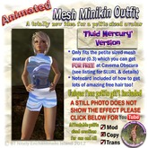 ** Fluid Mercury  Animated Mesh outfit - Petite Wonderland!! PLUS find out how to get a TOTALLY FREE petite avatar!!