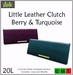 ::Duh!:: Little Leather Clutches - Berry and Turquoise