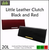 ::Duh!:: Little Leather Clutches - Black and Red