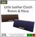 ::Duh!:: Little Leather Clutches - Navy and Brown