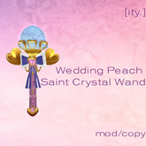 [ity.] Wedding Peach Saint Crystal Wand