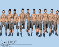 D.Luxx Poses - Hybrid 01 (10 Static Male Poses)