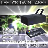 Leety's Twin laser club / stage effect