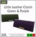 ::Duh!:: Little Leather Clutches - Green and Purple