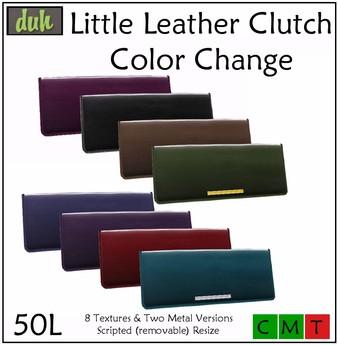 ::Duh!:: Little Leather Clutches - Color Change (8 colors)