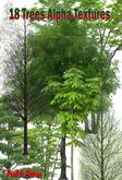 18 Tree Alpha Textures