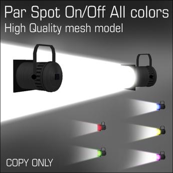 Par Spot On/Off All colors