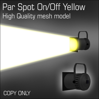 Par Spot On/Off Yellow