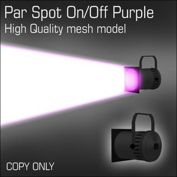 Par Spot On/Off Purple