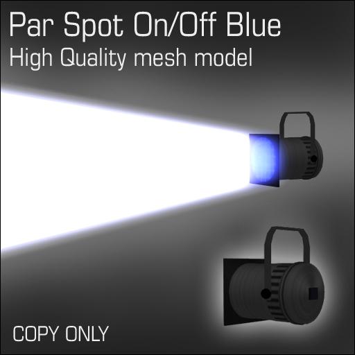 Par Spot On/Off Blue