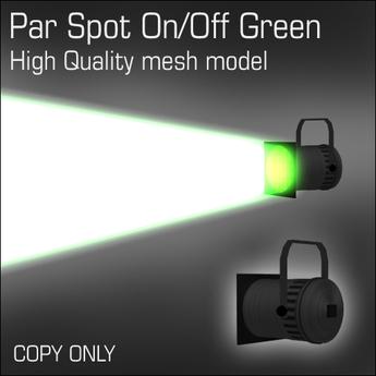 Par Spot On/Off Green