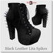 Blackburns Black Leather Lita Spikes