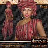 Artizana - Kayes (Red) - African Outfit + Head Wrap
