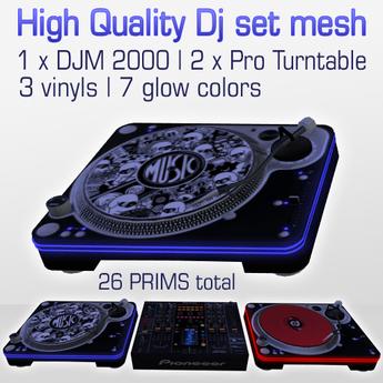 HQ dj set DJM 2000 + Pro turntables Lowprim