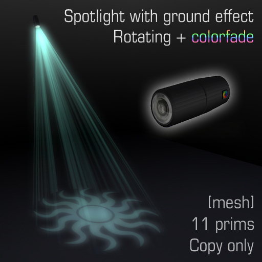 Spotlight with ground effect 1