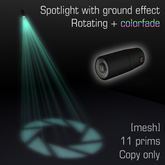 Spotlight with ground effect 2