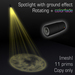 Spotlight with ground effect 4