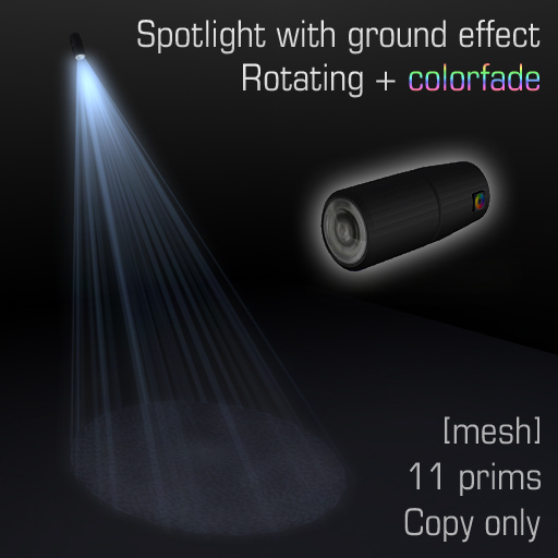 Spotlight with ground effect 7