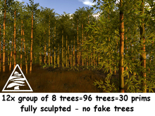 Bamboo 3D 12xgroup of 8 trees M/T