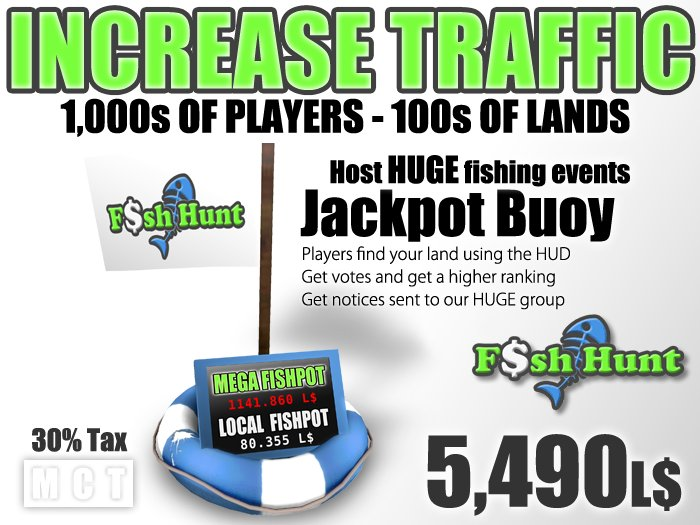 Fish Hunt Buoy - Increase Land Traffic (30% tax version)