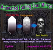 Classic Spooky Skull in mirror - fades in and out!