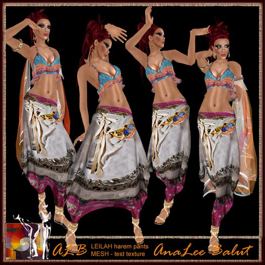 ALB LEILAH harem pants - MESH by AnaLee Balut - ALB DREAM FASHION