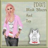 [DandelionWine]Mesh Blazer Pink ALL Size