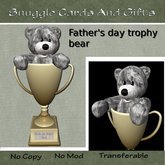 Worlds best Dad trophy bear By Snuggles