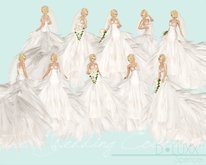 D.Luxx Poses - The Wedding Collection - Spencer - 10 Single Bridal Static Standing Female Poses