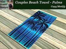 [WHD] -- Couples Beach Towel - Palms - 50 Anims and 35 poses - (Copy/Modify)