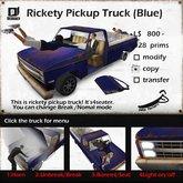 *Joke Factory* Rickety PickupTruck (BLUE)
