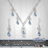 ::: Krystal ::: Eden - Jewelry Set - Silver (MultiJewel)