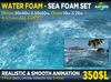 COPY - Realistic sea or water foam set - Sea effect in 4 sizes, ocean decoration