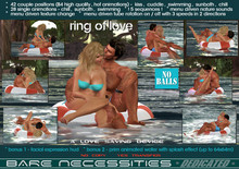! The Ring of Love - inner tube w. 111 animations , 5 scenes - kiss , cuddle , swimm , swimming , sunbath , chill , pool