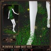=^.^= Curious Kitties Fantasy Fuzz - Plentiful Fairy Dust Feet - Yellow