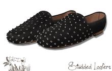 (TokiD) studded loafer (black)